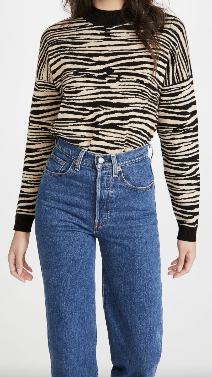 <p>If you're into bold animal print, go for this <span>WAYF Vincent Sweater </span> ($35, originally $88).</p>