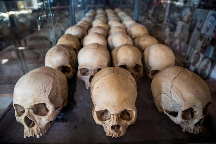 Dark past: Skulls of victims at the genocide memorial in Kigali. More than 800,000 people, most of them Tutsis, were slaughtered (AFP Photo/Jacques NKINZINGABO)