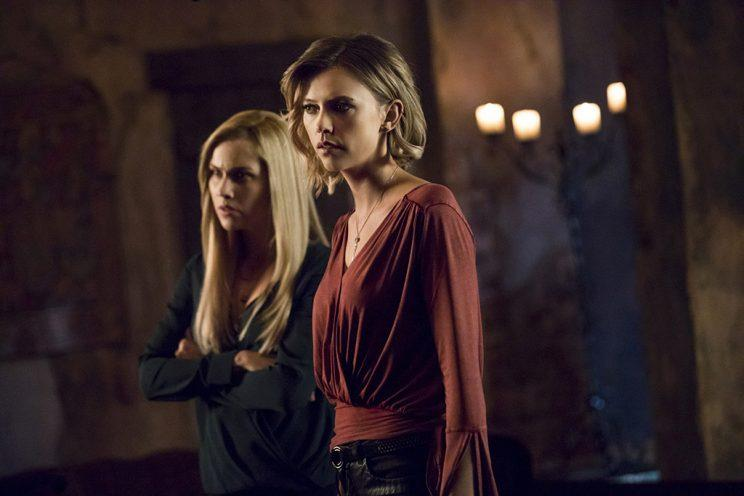 Claire Holt as Rebekah and Riley Voelkel as Freya in The CW's The Originals. (Photo Credit: Bob Mahoney/The CW)