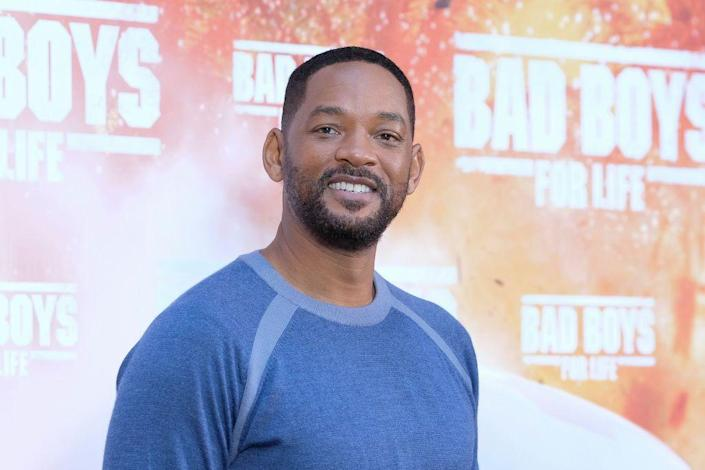 """<p>Now: From the Bad Boys franchise to I, Robot and The Pursuit of Happyness to Aladdian, Smith has had an <a href=""""https://www.imdb.com/name/nm0000226/"""" rel=""""nofollow noopener"""" target=""""_blank"""" data-ylk=""""slk:unpredictable career"""" class=""""link rapid-noclick-resp"""">unpredictable career</a> of unpredictable roles. He's been nominated for five Golden Globes and two Academy Awards. With an impressive music career, Smith has won four Grammys and six American Music Awards.</p>"""