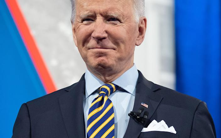 <p>Biden says he's 'tired' of talking about Trump and says he is only president not to call him</p> (Photo by SAUL LOEB/AFP via Getty Images)