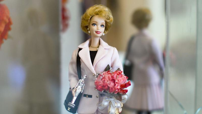 A Barbie of Carol Spencer given to her from Mattel when she retired.