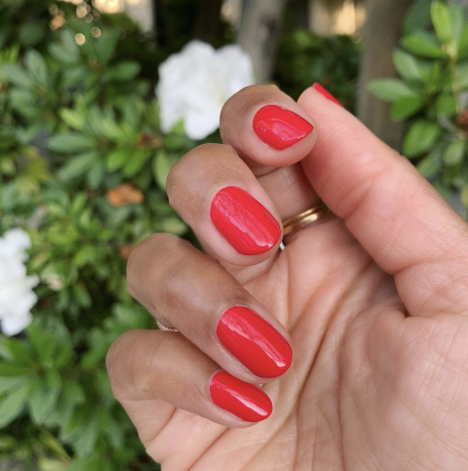 <p>At the end of the day, there's nothing more classic than a red manicure. Wear your favorite blue and white outfit and you're all set. </p>