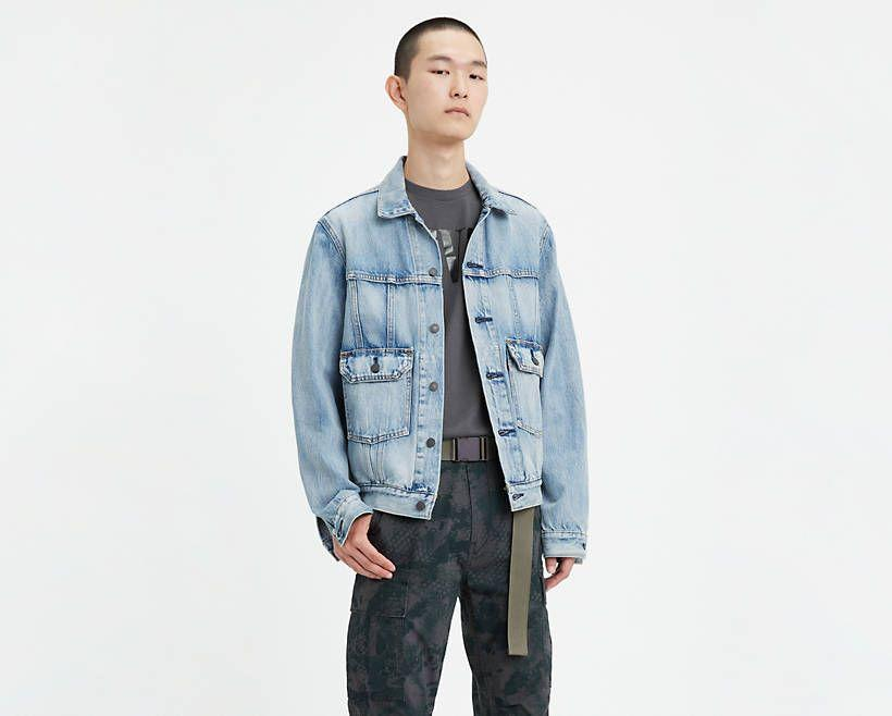 """<p><strong>Levi's</strong></p><p>levi.com</p><p><strong>$34.99</strong></p><p><a href=""""https://go.redirectingat.com?id=74968X1596630&url=https%3A%2F%2Fwww.levi.com%2FUS%2Fen_US%2Fapparel%2Fclothing%2Ftops%2Ficonic-original-trucker-jacket%2Fp%2F852400000&sref=https%3A%2F%2Fwww.esquire.com%2Fstyle%2Fmens-fashion%2Fg32945302%2Flevis-summer-sale%2F"""" rel=""""nofollow noopener"""" target=""""_blank"""" data-ylk=""""slk:Buy"""" class=""""link rapid-noclick-resp"""">Buy</a></p><p>An icon for a reason. </p>"""