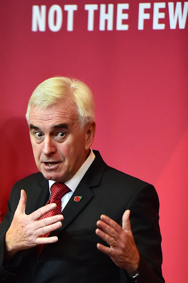 Shadow Chancellor John McDonnell (Photo: Richard Martin-Roberts via Getty Images)