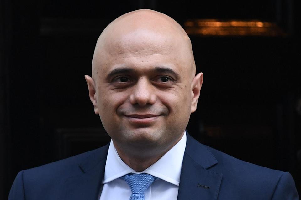 Britain's Chancellor of the Exchequer Sajid Javid leaves number 11 Downing Street in central London on January 29, 2020. (Photo by DANIEL LEAL-OLIVAS / AFP) (Photo by DANIEL LEAL-OLIVAS/AFP via Getty Images)