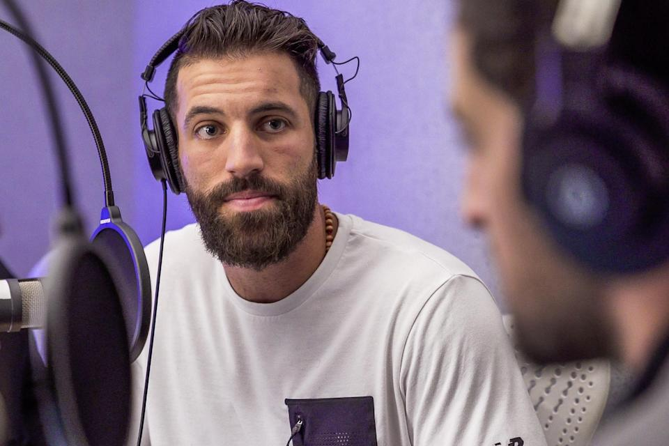 Premier Lacrosse League cofounder Paul Rabil on the Yahoo Finance Sportsbook podcast in New York on Oct. 24, 2018. (Brett Roberts/Rabil Companies)