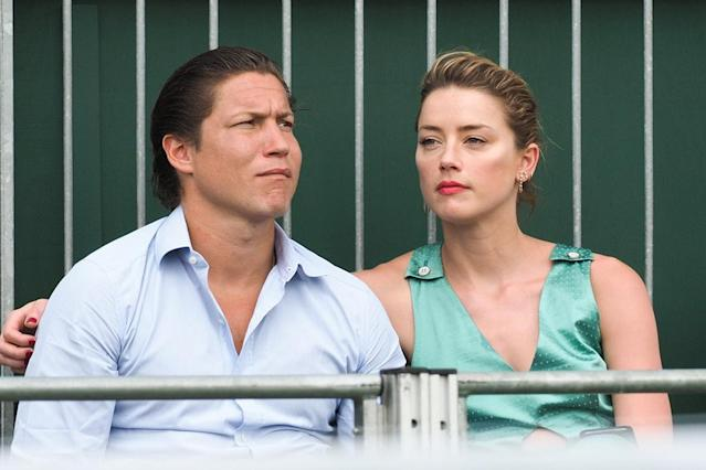 Amber Heard and Vito Schnabel take their relationship public in London. (Photo: Backgrid)