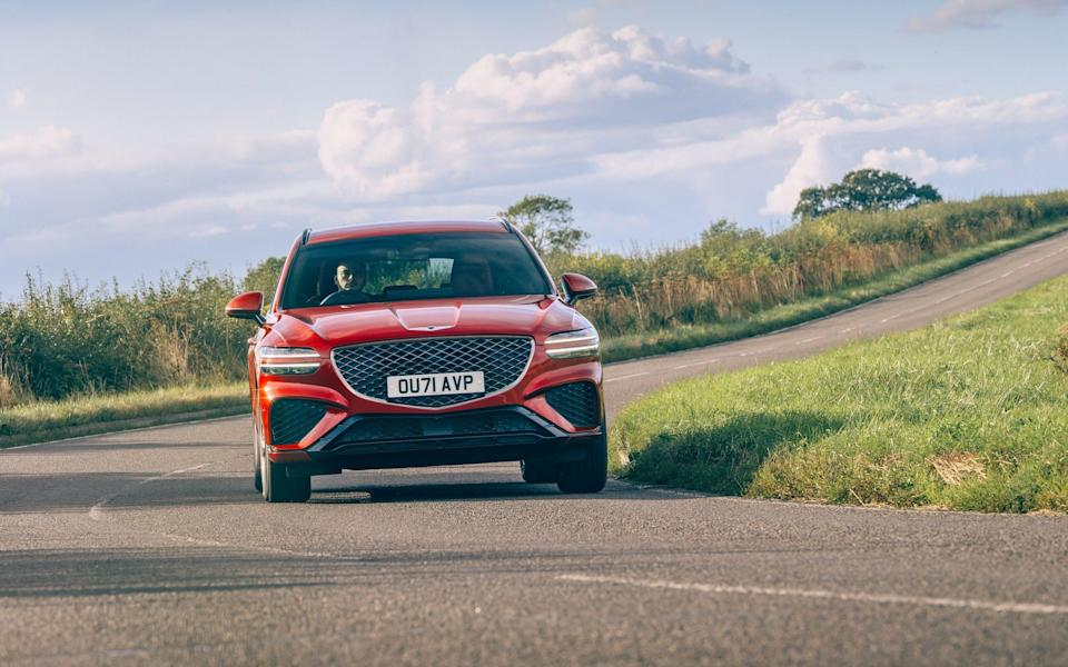 Our Genesis GV70 had a mid-range Sport Line trim and weighed in at just above £43,000 - Genesis