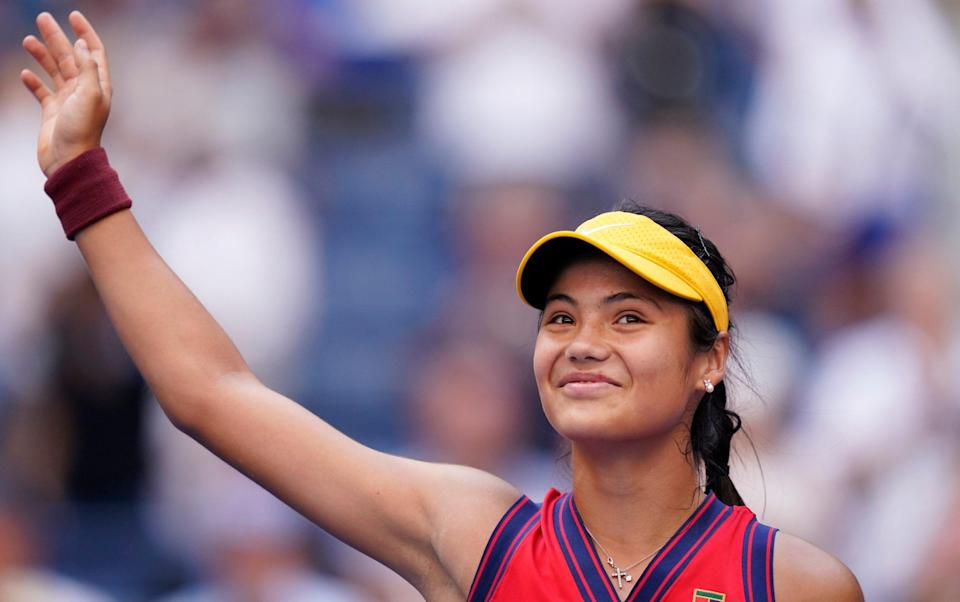 Emma Raducanu is the talk of Flushing Meadows after her incredible US Open run - AP