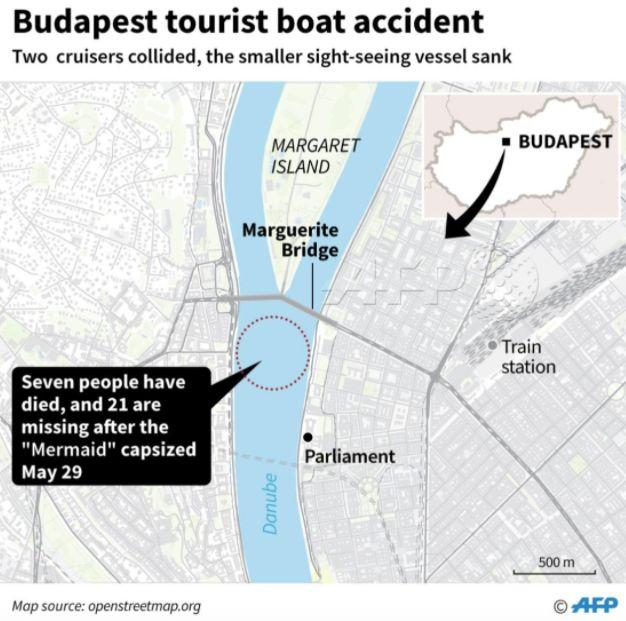 The location of the boat accident (AFP)