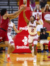 Indiana guard Armaan Franklin (2) and Rutgers guard Ron Harper Jr. (24) go after a long rebound during the second half of an NCAA college basketball game, Sunday, Jan. 24, 2021, in Bloomington, Ind. (AP Photo/Doug McSchooler)