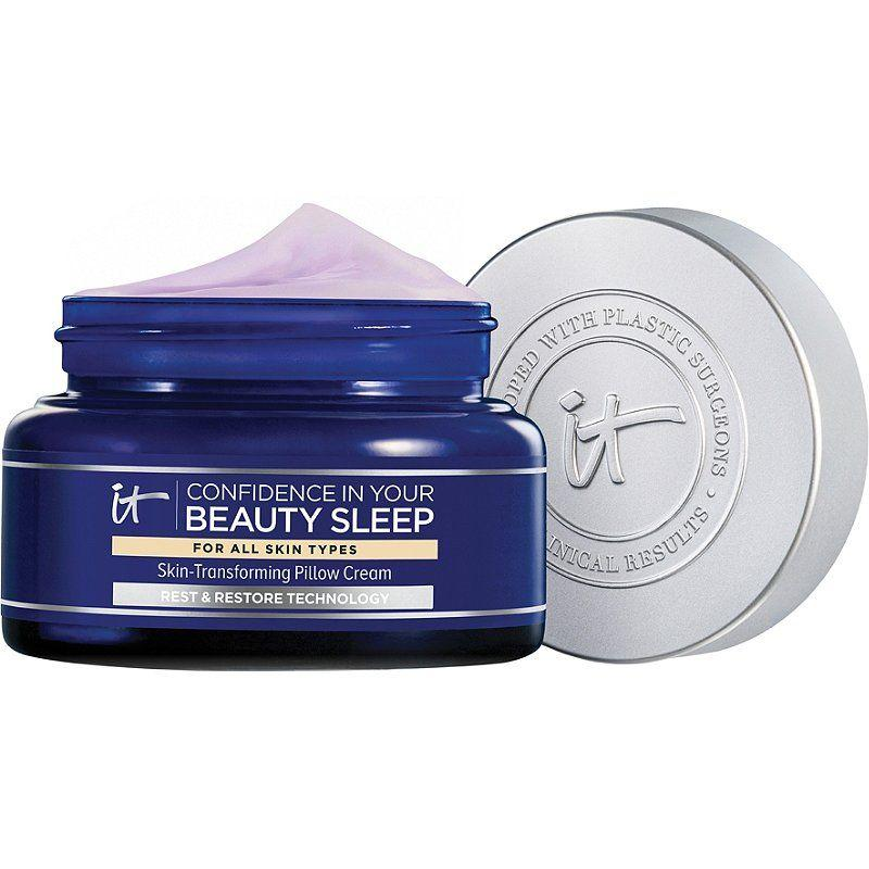 """<p><strong>It Cosmetics</strong></p><p>ulta.com</p><p><strong>$54.00</strong></p><p><a href=""""https://go.redirectingat.com?id=74968X1596630&url=https%3A%2F%2Fwww.ulta.com%2Fconfidence-in-your-beauty-sleep-night-cream%3FproductId%3Dpimprod2012938&sref=http%3A%2F%2Fwww.marieclaire.com%2Fbeauty%2Fnews%2Fg3628%2Fbest-night-creams%2F"""" target=""""_blank"""">Shop Now</a></p><p>This bouncy, whipped texture will make you want to slather this all over your skin. And you can with the reassurance that you won't wake up with it all over your pillow thanks to its transfer-resistant texture. It's made with a rest and restore technology which will smooth fine lines, hydrate dry patches, and more overnight. </p>"""