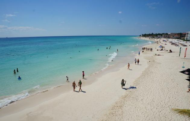 The best part of the Playa Del Carmen's beach is the south end.