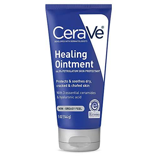 CeraVe Healing Ointment | 5 Ounce | Cracked Skin Repair Skin Protectant with Petrolatum Ceramides | Packaging may Vary