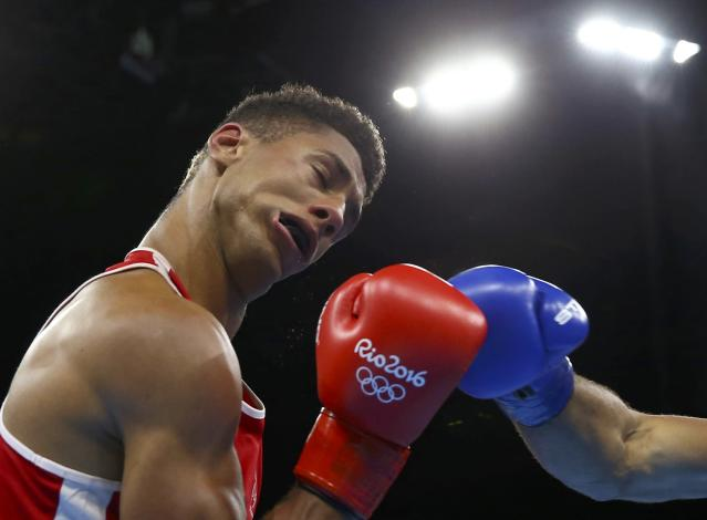 2016 Rio Olympics - Boxing - Final - Men's Super Heavy (+91kg) Final Bout 273 - Riocentro - Pavilion 6 - Rio de Janeiro, Brazil - 21/08/2016. Tony Yoka (FRA) of France competes. REUTERS/Peter Cziborra FOR EDITORIAL USE ONLY. NOT FOR SALE FOR MARKETING OR ADVERTISING CAMPAIGNS.
