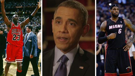 President Obama weighs in on Jordan vs. LeBron