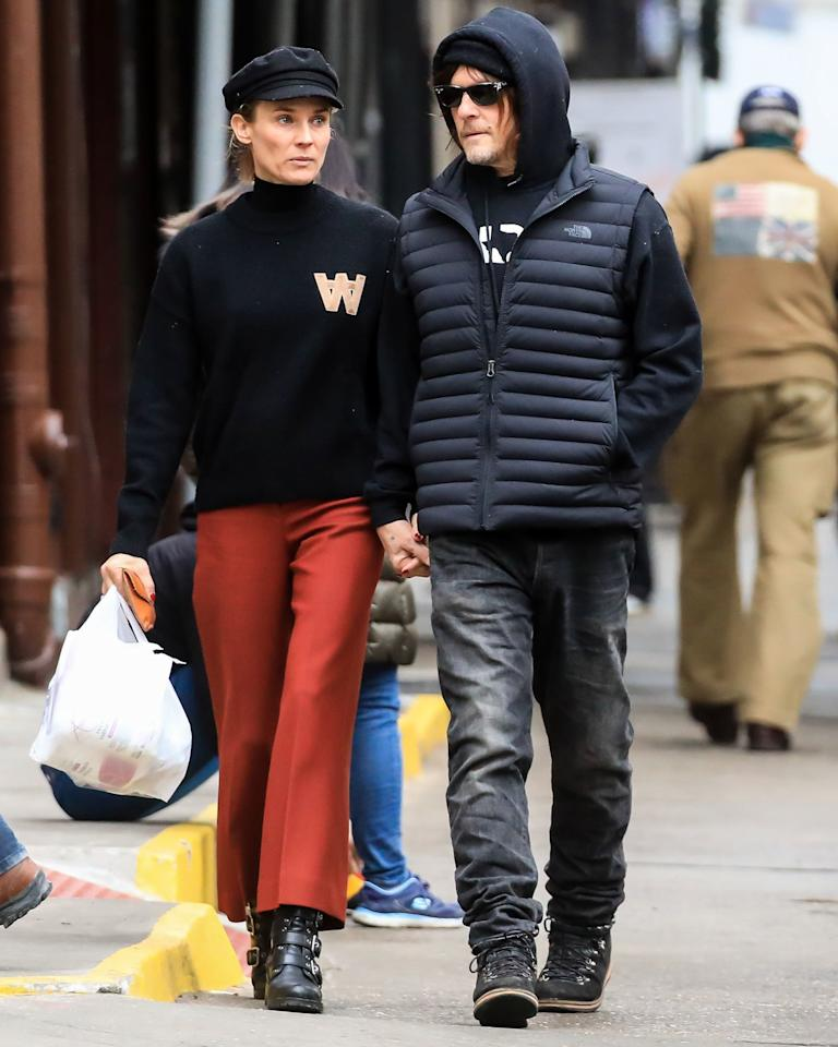 Diane Kruger and Norman Reedus were seen strolling hand-in-hand in New York City.