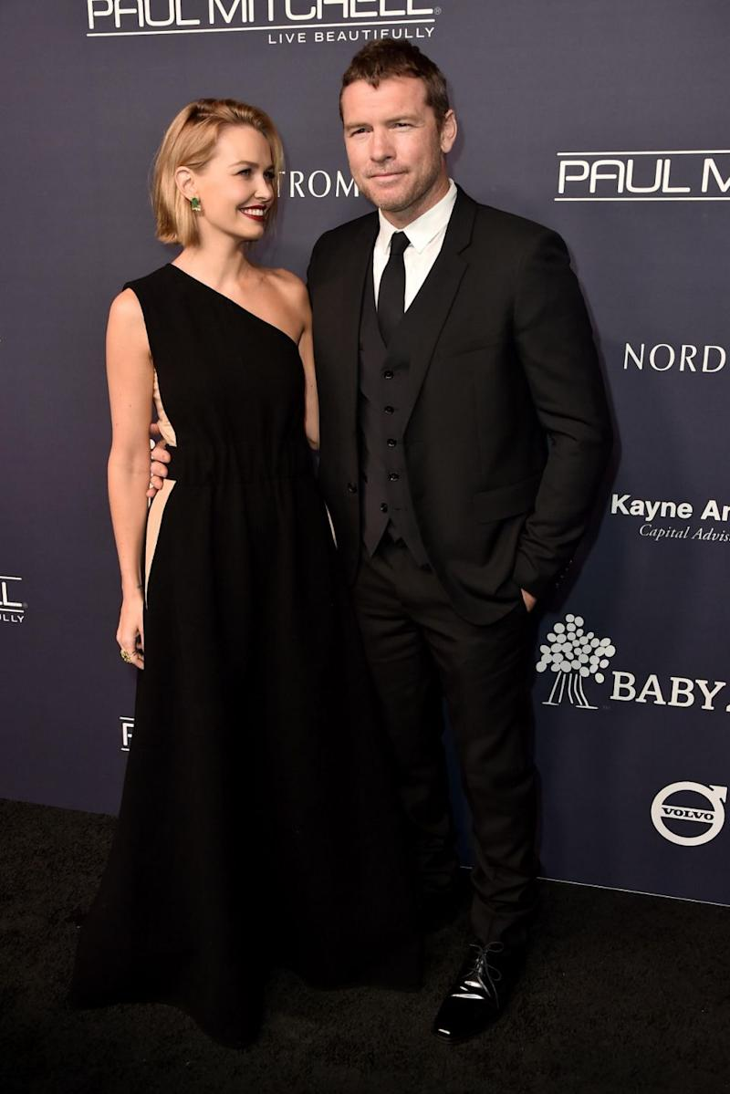 Model Lara Bingle and actor Sam Worthington attend the 2017 Baby2Baby Gala in California. Source: Getty