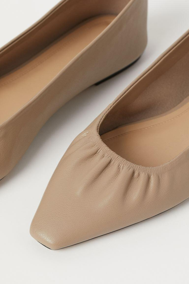 <p>These <span>Pointed Flats</span> ($25) will look great with biker shorts and a white tee.</p>
