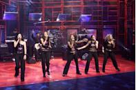 """<p>The 2000 WB singing competition <em>Popstars </em>formed this girl group, which had some moderate success with the song """"Get Over Yourself."""" However, standout singer Nicole Scherzinger left the band after two years and skyrocketed to fame loosening up her buttons as the frontwoman of the Pussycat Dolls.<br></p>"""