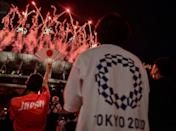 Thousands of Japanese crowded outside the Olympic Stadium to soak up the atmosphere of the opening ceremony