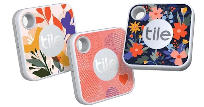 Available in several sizes and designs, Tile trackers can be affixed to a key ring, slipped into a wallet, or attached to a purse.