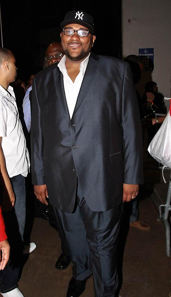 """Studdard has since traded in his jeans for a crisp gunmetal suit, but still found a hat to match his getup! Johnny Nunez/<a href=""""http://www.wireimage.com"""" target=""""new"""">WireImage.com</a> - July 2, 2010"""