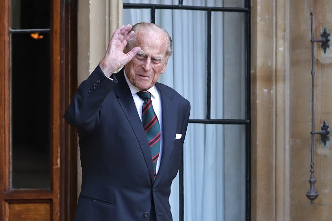 The Duke of Edinburgh at Windsor Castle arrives for a ceremony for the transfer of the Colonel-in-Chief of the Rifles from the Duke to the Duchess of Cornwall, who will conclude the ceremony from Highgrove House. PA Photo. Picture date: Wednesday July 22, 2020. The ceremony will begin at Windsor Castle where the Assistant Colonel Commandant, Major General Tom Copinger-Symes, will offer the salute and thank the Duke for his 67 years of support and service to The Rifles, and their forming and antecedent Regiments. The ceremony will continue at Highgrove House, where the arrival of The Duchess of Cornwall, where she will be addressed by The Rifles' Colonel Commandant, General Sir Patrick Sanders, who will welcome The Duchess as the new Colonel-in-Chief. See PA story ROYAL Philip. Photo credit should read: Adrian Dennis/PA Wire