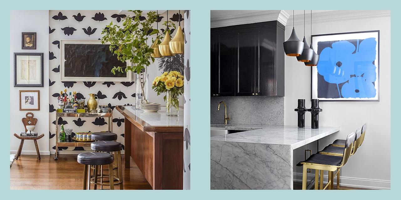"<p>Being short on square footage should never inhibit your <a href=""https://www.elledecor.com/kitchen-design/"" target=""_blank"">kitchen's design potential</a>. Whether you're working with hundreds of square feet or just a dozen or two, getting your cooking space into tip-top shape—both aesthetically and functionally—is just a few creative ideas away from being a reality. Below, see how these gorgeous homes used small kitchen layouts to their advantage, with <a href=""https://www.elledecor.com/design-decorate/room-ideas/g15874627/modern-kitchen-cabinets/"" target=""_blank"">bold cabinetry</a>, <a href=""https://www.elledecor.com/shopping/g26515761/the-edit-double-duty-furniture/"" target=""_blank"">double-duty accents</a>, <a href=""https://www.elledecor.com/design-decorate/room-ideas/g624/one-of-a-kind-kitchen-lighting/"" target=""_blank"">sleek lighting solutions</a>, and more.<br><br>Read on for 60 striking kitchen designs that are small on space but big on style. <br></p>"