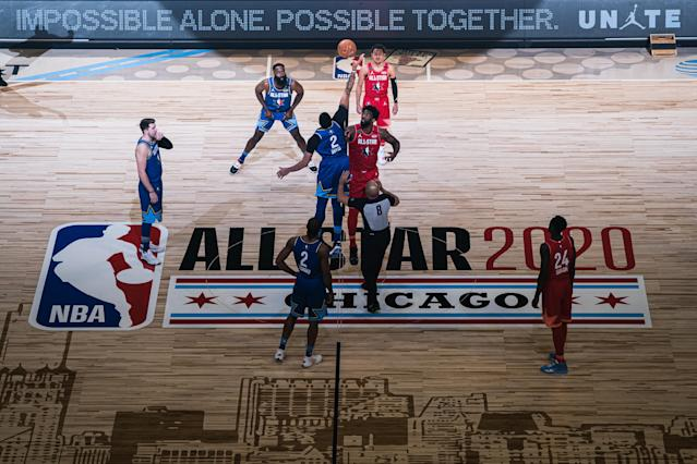 The end of the NBA All-Star Game on Sunday was considered a success. (Photo by Lampson Yip - Clicks Images/Getty Images)
