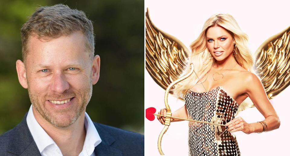 (left) A photo of Byron mayor Michael Lyon (right) A promotional photo of Love Island Host Sophie Monk