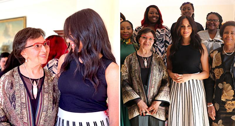 Meghan Markle pictured with female leaders at a breakfast at the High Commission, South Africa. [Photo: Getty/@SussexRoyal]