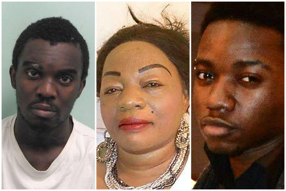 Obina Ezeoke, 28, was sentenced to life in prison at the Old Baily in September for murdering mother-of-nine, Annie Ekofo, 53, and her nephew Bervil Ekofo, 21.