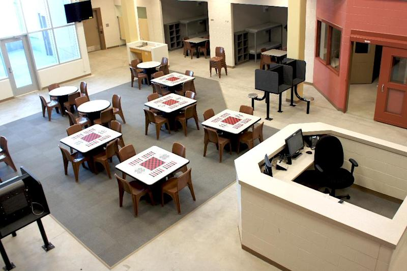 This image provided by The Sicangu Eyapaha shows the common area at the new Rosebud Sioux Tribe Adult Correctional Facility, Wolakota Elkupi Oti, on the Rosebud Reservation near Rosebud, S.D. The opening and staffing may be in question due to budget cuts. When it comes to the automatic spending cuts that began taking effect this month, federal lawmakers spared from hard hits those programs that help the nation's most vulnerable, such as food stamps, Social Security and veterans' assistance. That wasn't the case with programs for American Indian reservations, where unemployment is far above the national average, women suffer disproportionately from sexual assaults, and school districts largely lack a tax base to make up for the cuts. (AP Photo//The Sicangu Eyapaha, Tani Gordon)