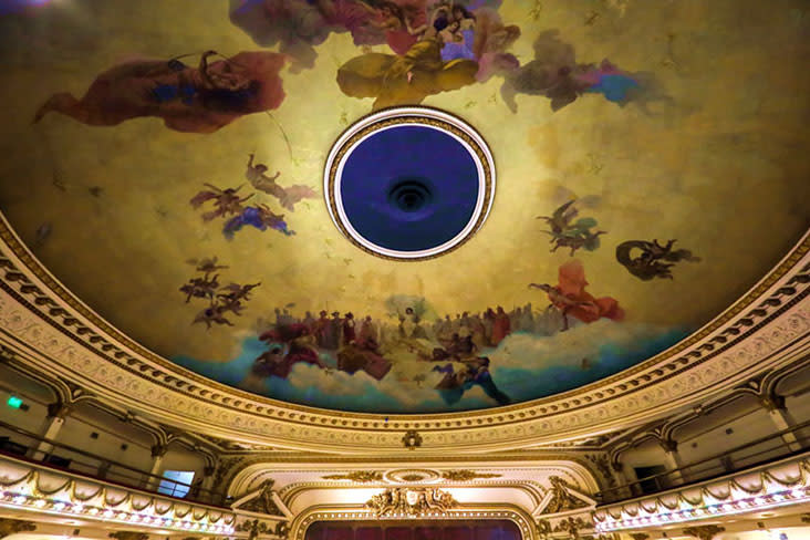 Don't forget to look above at the magnificent painted ceiling.