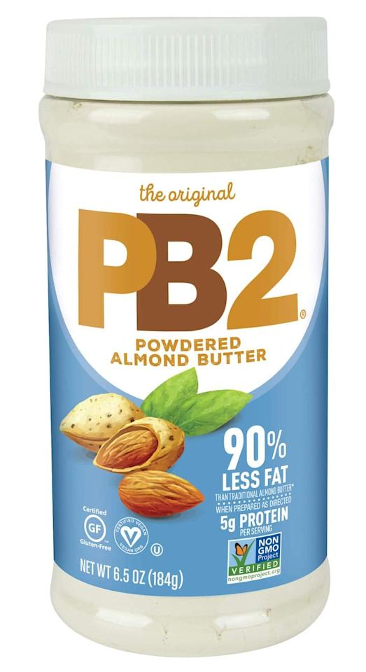"<p>OK, bear with me here for a second. This <a href=""https://www.popsugar.com/buy/PB2-Powdered-Almond-Butter-474833?p_name=PB2%20Powdered%20Almond%20Butter&retailer=amazon.com&pid=474833&price=9&evar1=fit%3Auk&evar9=46446629&evar98=https%3A%2F%2Fwww.popsugar.com%2Ffitness%2Fphoto-gallery%2F46446629%2Fimage%2F46446634%2FPB2-Powdered-Almond-Butter&list1=shopping%2Camazon%2Csnacks%2Cfats&prop13=api&pdata=1"" rel=""nofollow"" data-shoppable-link=""1"" target=""_blank"" class=""ga-track"" data-ga-category=""Related"" data-ga-label=""https://www.amazon.com/PB2-Powdered-Almond-Low-Fat-Non-GMO/dp/B07N1PYY49/ref=sr_1_57?keywords=low-fat&amp;qid=1564690813&amp;s=grocery&amp;sr=1-57&amp;th=1"" data-ga-action=""In-Line Links"">PB2 Powdered Almond Butter</a> ($9) actually tastes like the real thing, but has a whopping 90 percent less fat than traditional almond butter. How could you not pick this up?</p>"