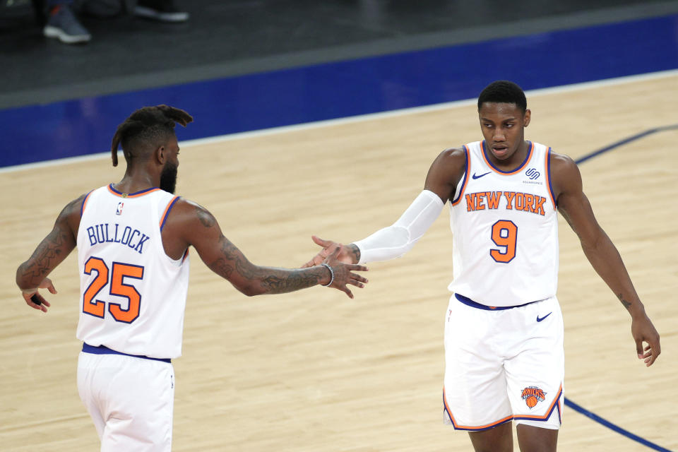 Reggie Bullock and RJ Barrett are part of the Knicks revival. (Sarah Stier/Getty Images)