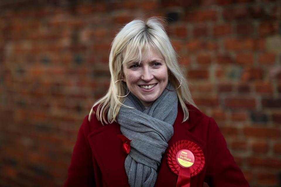 Rosie Duffield, the Labour Party candidate for Canterbury, poses for a photograph in Canterbury, Britain December 1, 2019. Picture taken December 1, 2019. REUTERS/Simon Dawson
