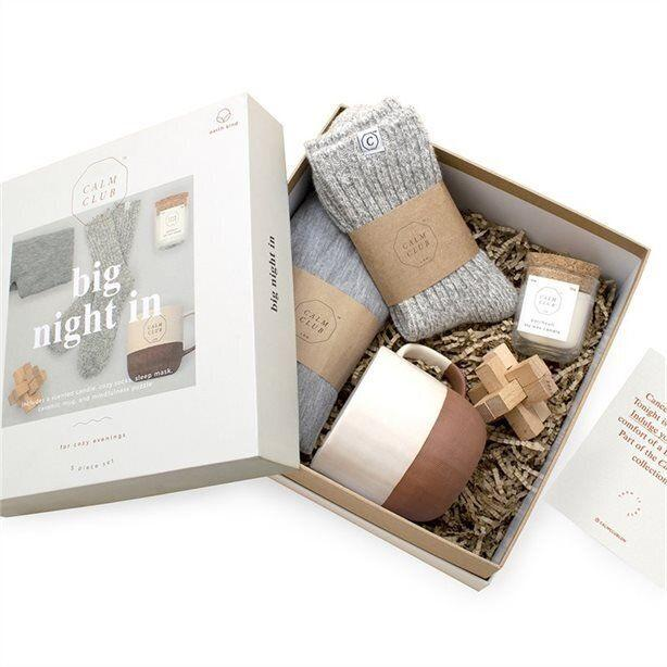 """For the friend who would rather chill out at home than go out to all those holiday parties. <a href=""""https://www.chapters.indigo.ca/en-ca/house-and-home/calm-club-big-night-in/5060146595292-item.html"""" target=""""_blank"""" rel=""""noopener noreferrer"""">Get it for $54.50 at Indigo.</a>"""