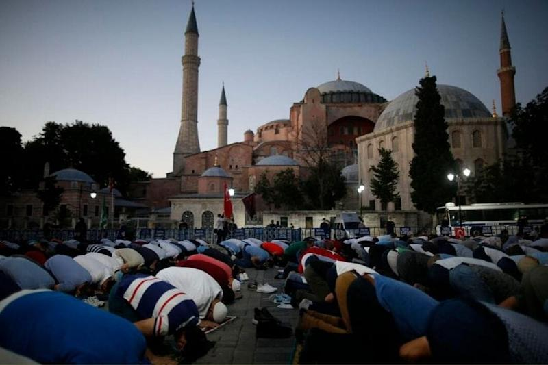 Turkey and Greece Exchange Harsh Words Over Friday Prayers at Hagia Sophia