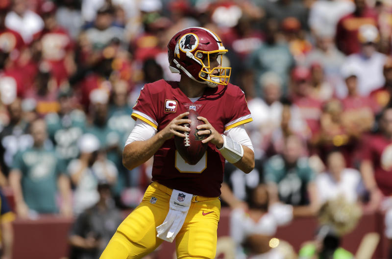Kirk Cousins thought his arm was going forward on a key fumble call against the Eagles. (AP)