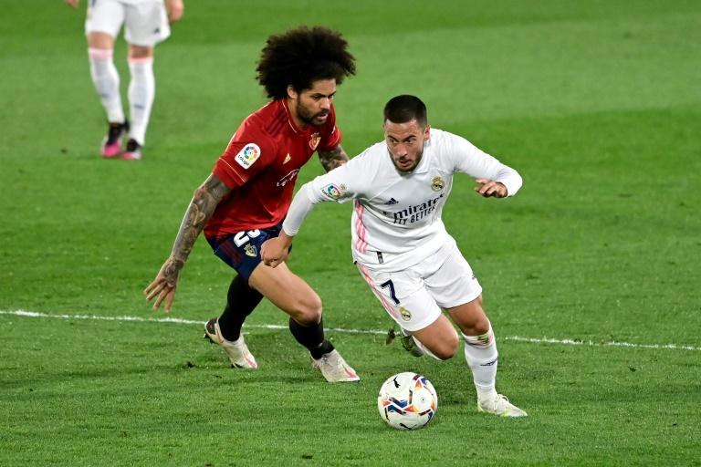 Eden Hazard made his first start since January in Real Madrid's win over Osasuna on Saturday