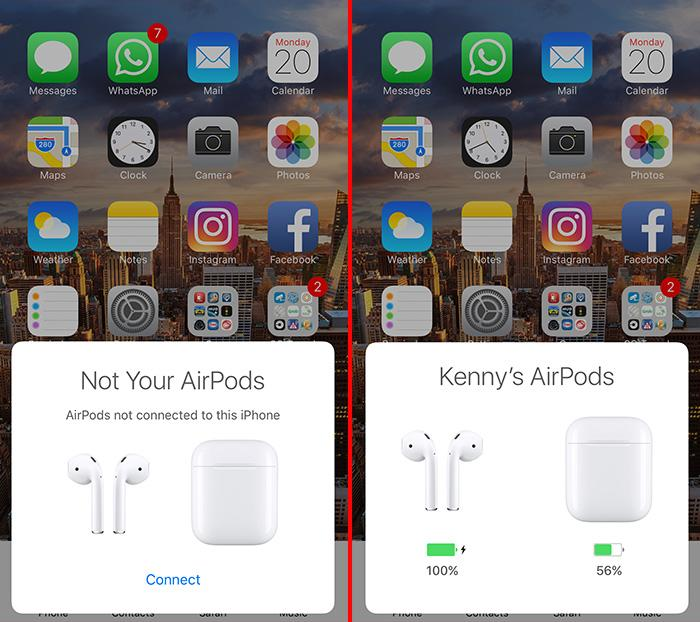It is easy to pair the AirPods and also check its remaining battery level.