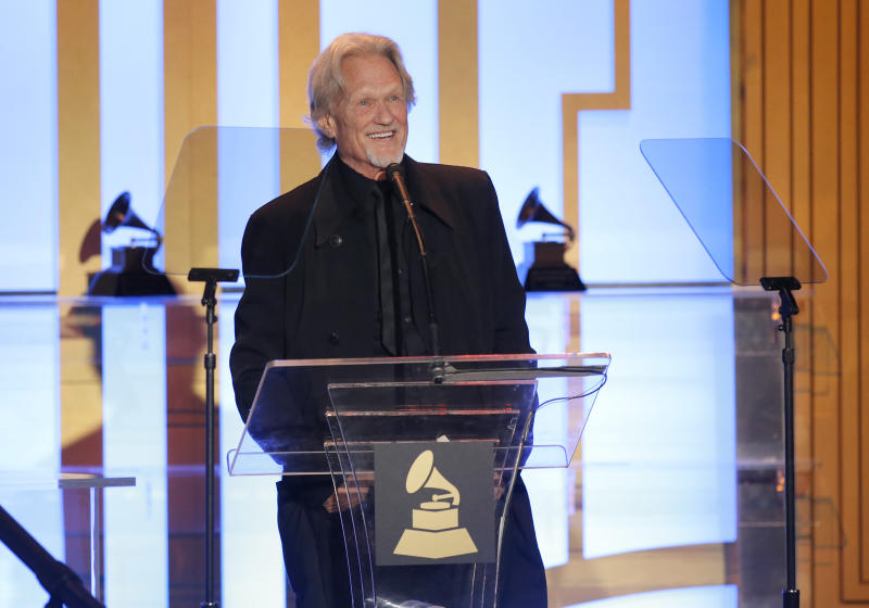 Kris Kristofferson attends The 56th Annual GRAMMY Awards - Special Merit Awards Ceremony, on Saturday, Jan. 25, 2014 in Los Angeles. (Photo by Todd Williamson/Invision/AP)