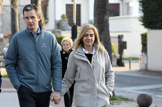 Cristina e Iñaki de paseo por Vitoria (Photo by Europa Press Entertainment/Europa Press via Getty Images)