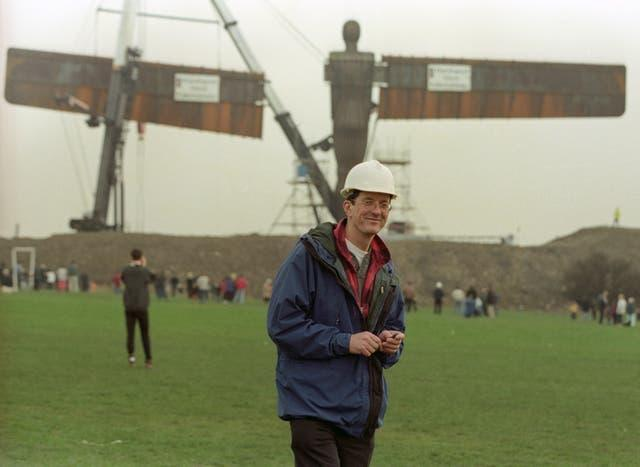 Sir Antony Gormley in 1998 as the Angel of the North was being erected