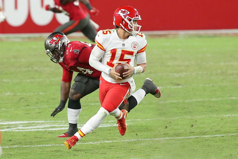 Patrick Mahomes and the Chiefs beat the Buccaneers in the regular season. (Photo by Cliff Welch/Icon Sportswire via Getty Images)
