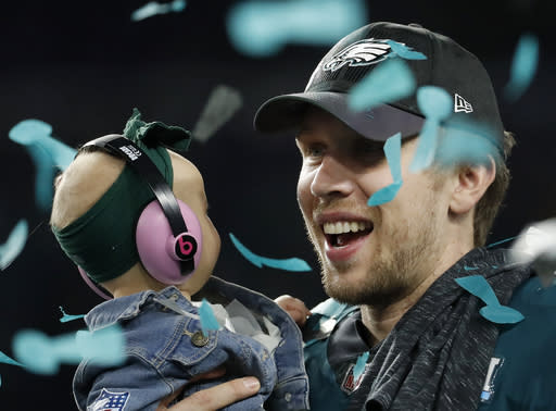 Will Super Bowl hero Nick Foles get traded away from the Philadelphia Eagles? (AP)