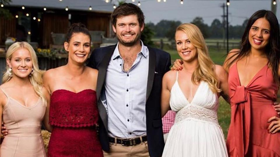 Farmer Wants A Wife's Harry Robertson with his potential wives